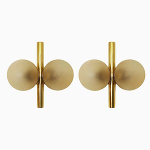 Golden Sputnik Sconces from Kaiser Idell / Kaiser Leuchten, 1960s, Set of 2