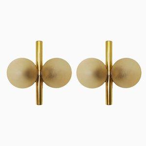 Goldene Sputnik Wandlampen von Kaiser Idell / Kaiser Leuchten, 1960er, 2er Set