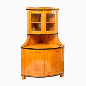 Antique Biedermeier Maple Corner Cabinet