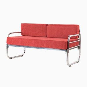 Sofá cama de dos plazas de Franz Singer para Metz & Co, años 30