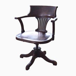 Awe Inspiring Mid Century Oak Captains Swivel Chair For Sale At Pamono Machost Co Dining Chair Design Ideas Machostcouk