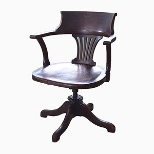 Chaise de Bureau Pivotante Antique