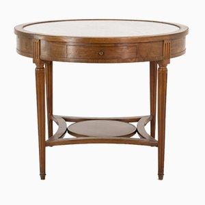 Antiker französischer Spieltisch aus Mahagoni & Marmor