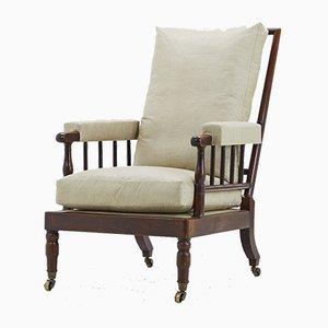 Antiker französischer Sessel aus Mahagoni