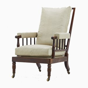 Antique French Mahogany Armchair