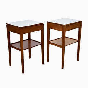 Mid-Century Teak Nightstands from Remploy, Set of 2