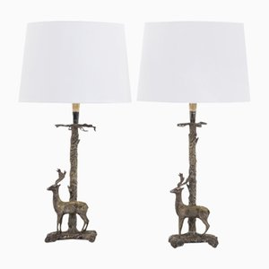 Mid-Century Spanish Silver-Plated Table Lamps, 1960s, Set of 2