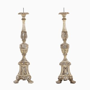 18th Century Italian Silver Gilt Sconces, Set of 2