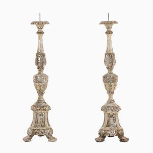 Vergoldete italienische Wandlampen, 18. Jh., 2er Set