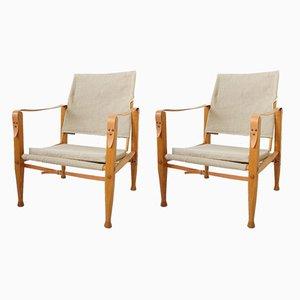 Safari Stuhl von Kaare Klint für Rud. Rasmussen, 1940er, 2er Set
