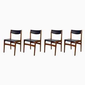 Mid-Century Esszimmerstühle von Erik Buch für Anderstup Møbelfabrik, 4er Set