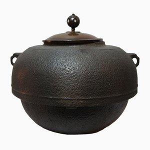 Japanese Cast Iron Chagama Tea Kettle, 1950s