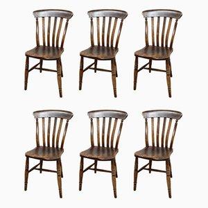 Antike Windsor Esszimmerstühle, 6er Set