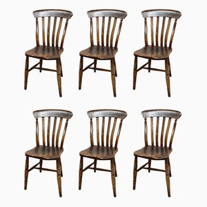 Antique Windsor Dining Chairs, Set of 6