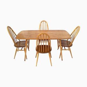 Juego de mesa y sillas de comedor de Lucian Ercolani para Ercol, años 60. Juego de 5