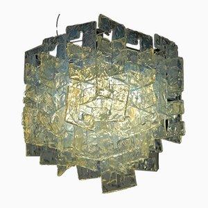 Kronleuchter aus Opalglas von Carlo Nason für Mazzega, 1960er