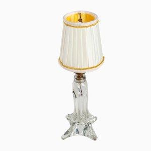 Mid-Century Tischlampe aus Kristallglas, 1950er