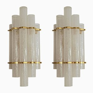 Pulegoso Glass Sconces, 1980s, Set of 2