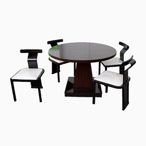 Round Extendable Rosewood Dining Table, 1970s
