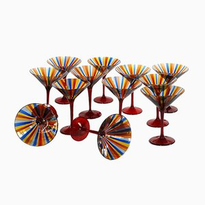 Martini Glasses by Amelio Cenedese & Gino Cenedese, 1960s, Set of 12