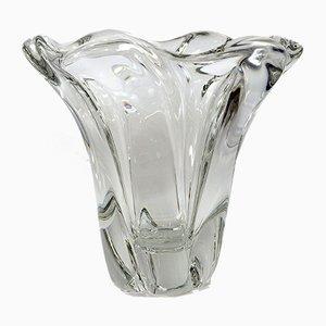 Französische Mid-Century Kristallvase von Daum, 1950er