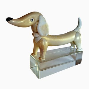 Dachshund Sculpture by Alfredo Barbini, 1950s