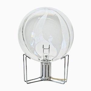 Transparente kugelförmige Tischlampe von Toni Zuccheri für VeArt, 1960er