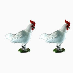 Mid-Century Rooster Sculptures by Luciano Ferro for Avem, Set of 2