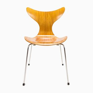 Danish Model 3108 Seagull Mahogany Dining Chair by Arne Jacobsen for Fritz Hansen, 1973