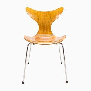 Sedia da pranzo nr. 3108 in mogano di Arne Jacobsen per Fritz Hansen, Danimarca, 1973