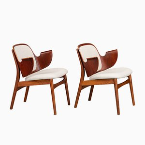 Danish Teak Armchairs by Arne Hovmand-Olsen for Bramin Møbler, 1960s, Set of 2