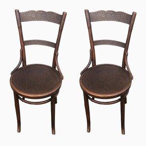 Chaises de Bistrot Antiques de Jacob & Josef Kohn, 1900s, Set de 2