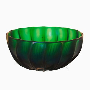 Green Glass Bowl by Archimede Seguso, 1996