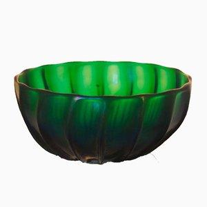 Grüne Glasschale von Archimede Seguso, 1996