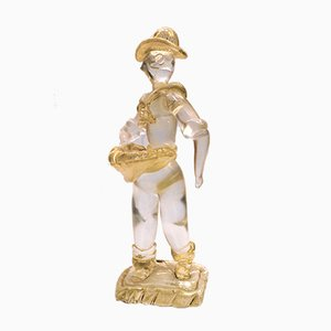 Murano Glass Sower Sculpture by Ercole Barovier for Vetreria Artistica Barovier & C., 1930s