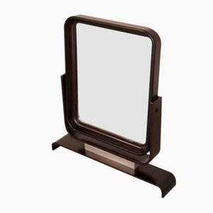 Mid-Century Lacquered Wood-Framed Table Mirror