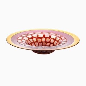 Murano Glass Bowl by Adriano dalla Valentina, 1990s