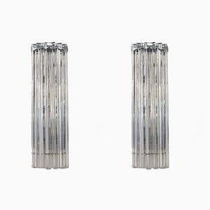 Murano Glass Triedri Sconces, 1980s, Set of 2