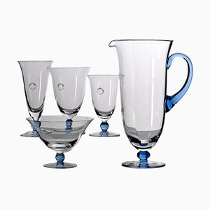 Italian Glass Tableware Set from Vincenzo Nason & C, 1980s