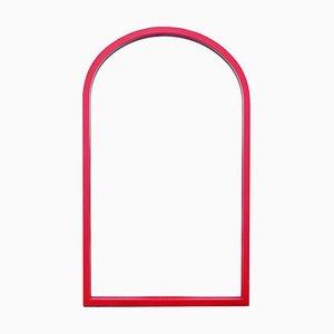 Postmoderner Spiegel mit rotem Rahmen von Anna Castelli Ferrieri für Kartell, 1980er