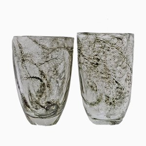 Murano Glass Vases by Ercole Barovier, 1930s, Set of 2