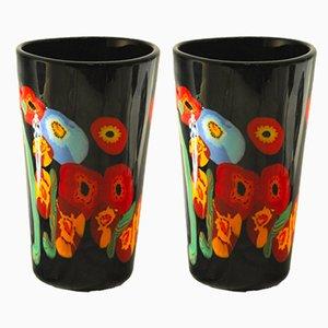Vasen von Malvino Pavanello e Figli, 1970er, 2er Set