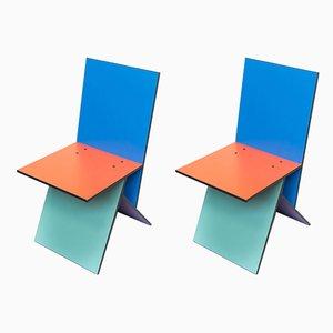 Sedie da pranzo Vilbert vintage di Verner Panton per Ikea, set di 2