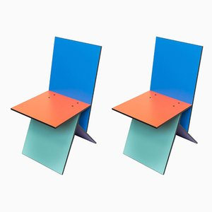 Vintage Vilbert Esszimmerstühle von Verner Panton für Ikea, 2er Set