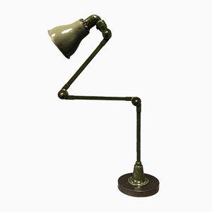 Grüne englische Invisaflex Tischlampe, 1940er