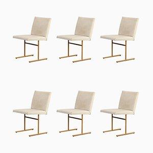Esszimmerstühle aus Skai & Metall, 1970er, 6er Set
