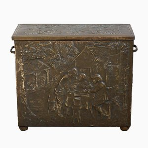 Antique Copper Storage Box