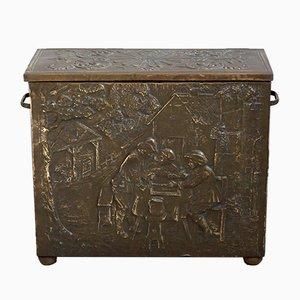 Caja de almacenamiento antigua de cobre