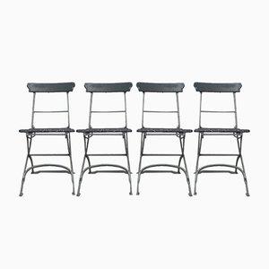Belgian Garden Folding Chairs, 1930s, Set of 4