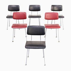 Modell 1231 & 1232 Beistellstühle von Gispen für Gispen, 1980er, 6er Set